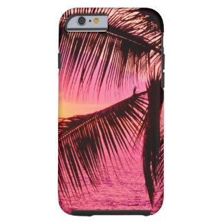Puesta del sol Hawaii de determinación tropical Funda De iPhone 6 Tough