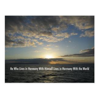 Puesta del sol Hawaii de la armonía Postal