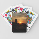 Puesta del sol hermosa barajas de cartas