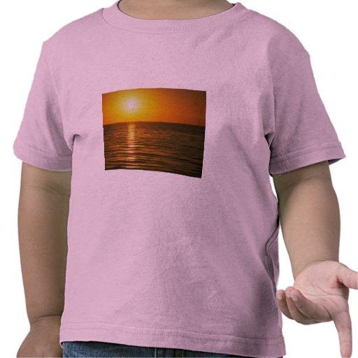 Puesta del sol hermosa: Cardiff-Por--Mar, Camisetas