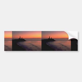 Puesta del sol hermosa: Casa ligera del punto de M Pegatina De Parachoque