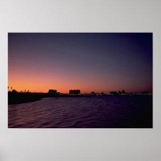 Puesta del sol hermosa: Corpus Christi, twighlight Póster