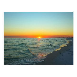 Puesta del sol hermosa de la Costa del Golfo Postales