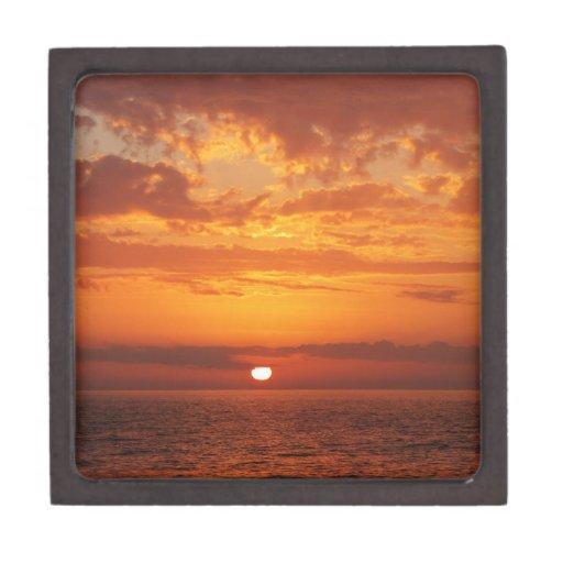 Puesta del sol hermosa de la Florida del amarillo  Caja De Recuerdo De Calidad