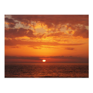 Puesta del sol hermosa de la Florida del amarillo Tarjeta Postal