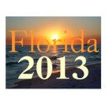 Puesta del sol hermosa de la playa de la Florida - Tarjeta Postal