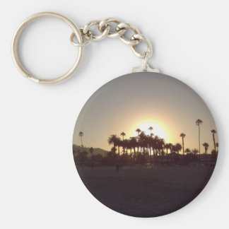 Puesta del sol hermosa de la playa de Santa Barbar Llavero