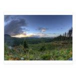 Puesta del sol hermosa de Oregon Postales