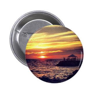 Puesta del sol hermosa de Puerto Vallarta Pin