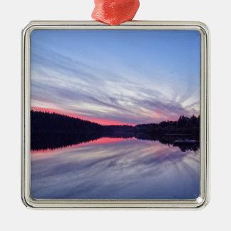 Puesta del sol hermosa del desierto sobre la foto ornaments para arbol de navidad