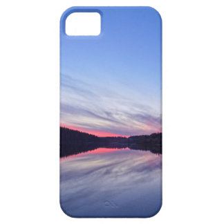 Puesta del sol hermosa del desierto sobre la foto iPhone 5 Case-Mate funda