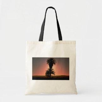 Puesta del sol hermosa Desierto del Sáhara Argel Bolsas De Mano