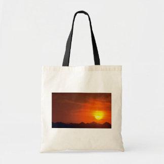 Puesta del sol hermosa Desierto septentrional Pa Bolsa De Mano
