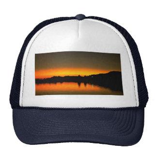 Puesta del sol hermosa: El río Colorado, Parker, A Gorras