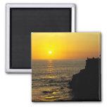 puesta del sol hermosa en la isla de Bali Imán De Frigorífico