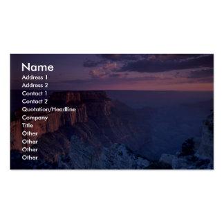 Puesta del sol hermosa: Gran Cañón, Arizona Tarjetas De Visita