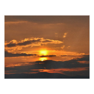 Puesta del sol hermosa comunicado personalizado