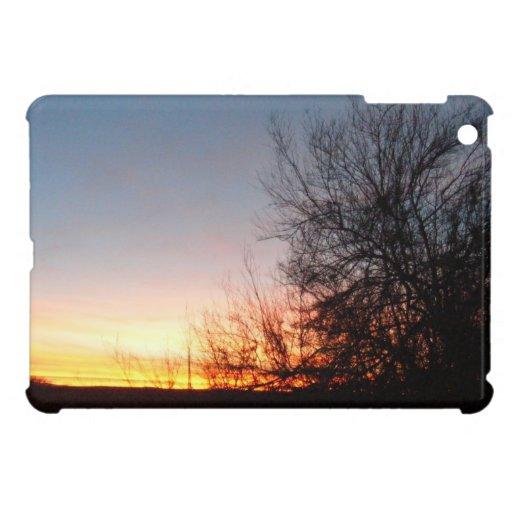 Puesta del sol hermosa iPad mini cobertura