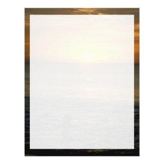 Puesta del sol hermosa: Perth, Australia Membretes Personalizados