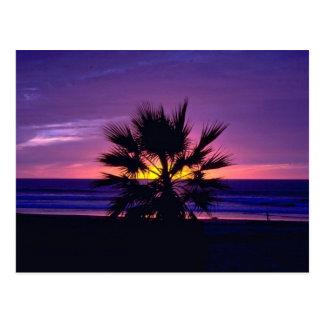 Puesta del sol hermosa: Playa de la misión, Califo Postales