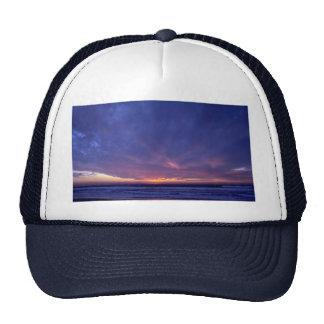 Puesta del sol hermosa: Point Loma, California Gorra
