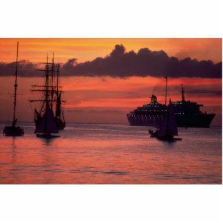 Puesta del sol hermosa Puerto de Bridgetown Barb Escultura Fotografica