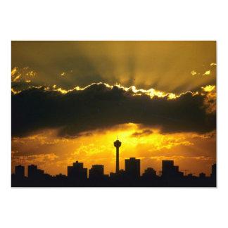 """Puesta del sol hermosa: Puesta del sol de Calgary, Invitación 5"""" X 7"""""""