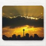 Puesta del sol hermosa: Puesta del sol de Calgary, Alfombrillas De Ratones