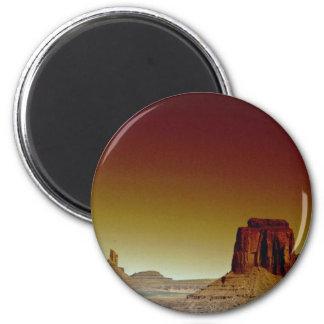 Puesta del sol hermosa Valle del monumento Améri Imán Para Frigorifico