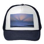 Puesta del sol hermosa: Virginia Beach, Virginia Gorras