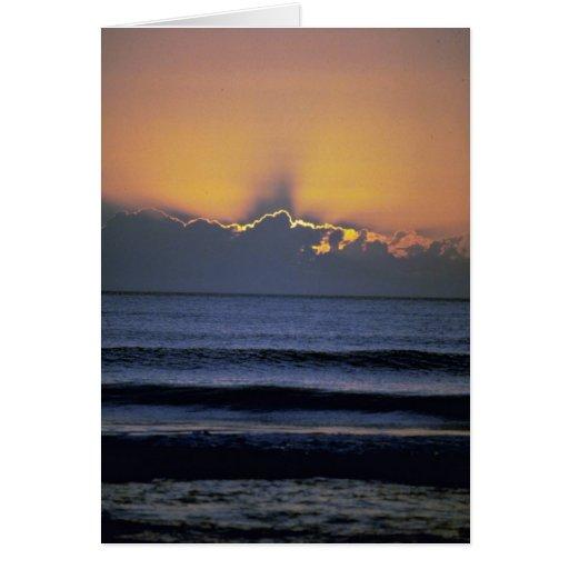 Puesta del sol hermosa: Virginia Beach, Virginia Felicitación