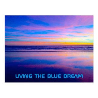 Puesta del sol ideal azul Santa Mónica Tarjeta Postal