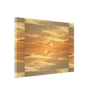 Puesta del sol: II de oro SDL Impresión En Lona Estirada