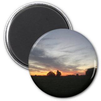 Puesta del sol imán redondo 5 cm