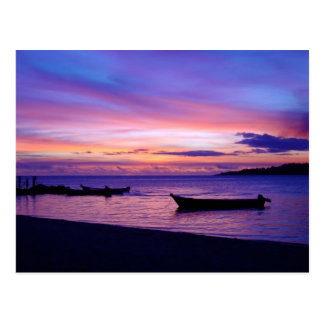 Puesta del sol imponente del Fijian Postales