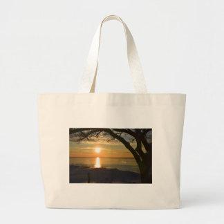 Puesta del sol impresionante bolsa de mano