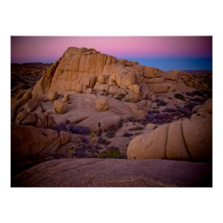 Puesta del sol impresionante del desierto posters
