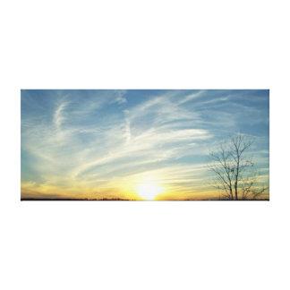 Puesta del sol impresionante impresión en lona