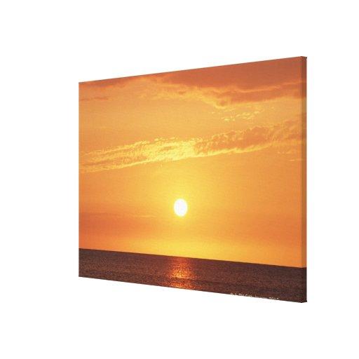Puesta del sol impresiones de lienzo