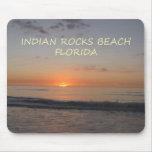 Puesta del sol india de la Florida de la playa de  Tapete De Ratones