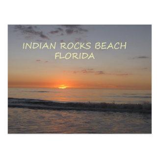 Puesta del sol india de la Florida de la playa de Tarjeta Postal