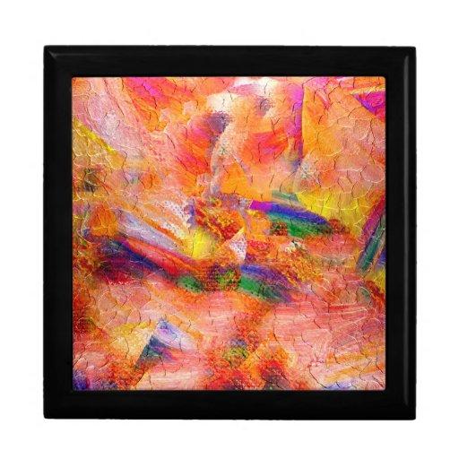 Puesta del sol infinita de la pintura abstracta cajas de regalo