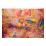 Puesta del sol infinita de la pintura abstracta manteles individuales