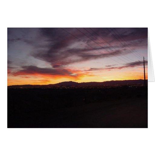 Puesta del sol IV de Nevada Tarjeta De Felicitación