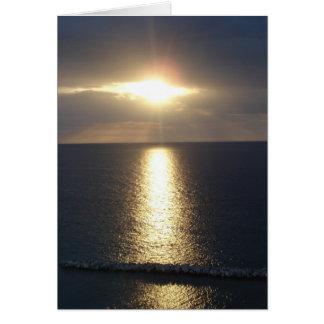puesta del sol jamacian felicitación