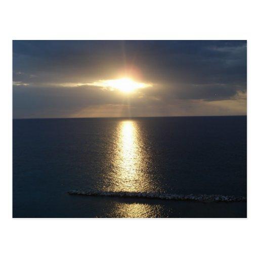 puesta del sol jamacian postal