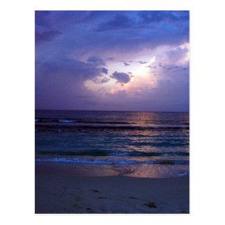 Puesta del sol jamaicana tarjetas postales