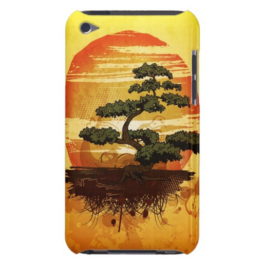 Puesta del sol japonesa del árbol de los bonsais iPod touch Case-Mate coberturas