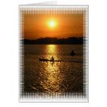 Puesta del sol Kayaking Felicitaciones