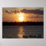puesta del sol Key West, FL Poster